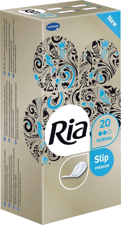 Fotografie Ria Slip Premium Normal hygienické slipové intimní vložky 20 kusů