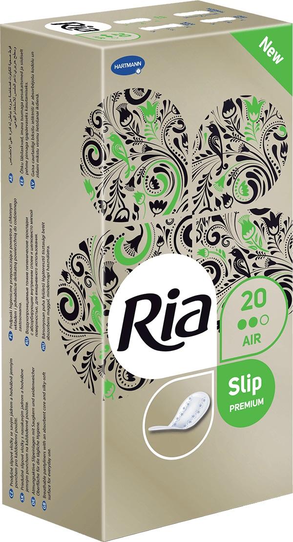 Fotografie Ria Slip Premium Air hygienické slipové intimní vložky 20 kusů