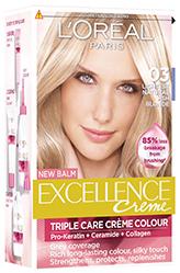 Loreal Paris Excellence Creme barva na vlasy 03 blond ultra světlá popelavá