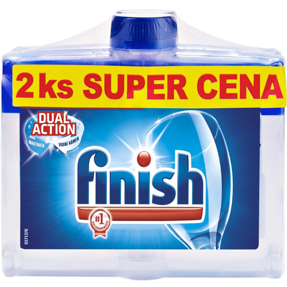 Fotografie Finish Calgonit čistič myčky DUO 2 x 250 ml