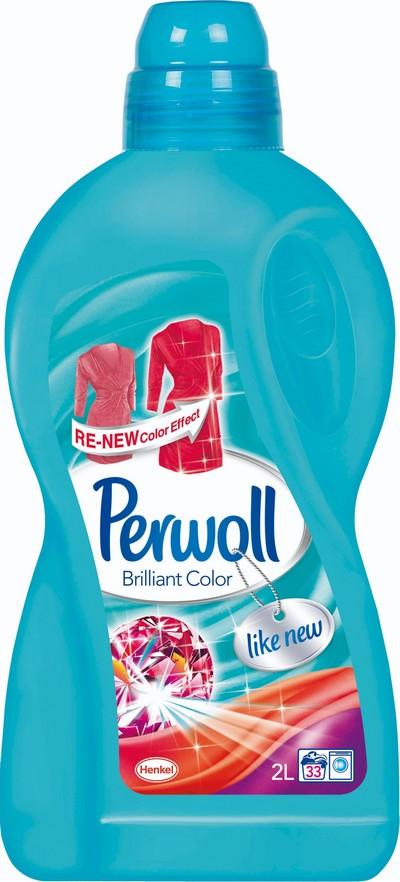 Perwoll Brilliant Color tekutý prací gel na barevné prádlo 2 l