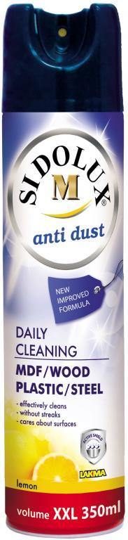 Sidolux M na nábytek Citron Hypoalergení Antistatický spray proti prachu s vůní citronu 350 ml