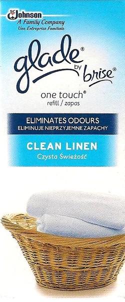 Glade by Brise One Touch Vůně čistoty mini sprej náhradní náplň osvěžovač vzduchu 10 ml