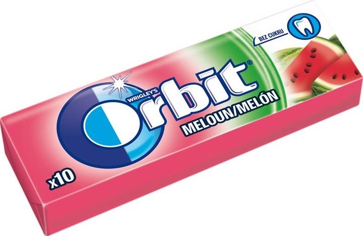 Wrigleys Orbit Meloun žvýkačka dražé 10 kusů 14 g