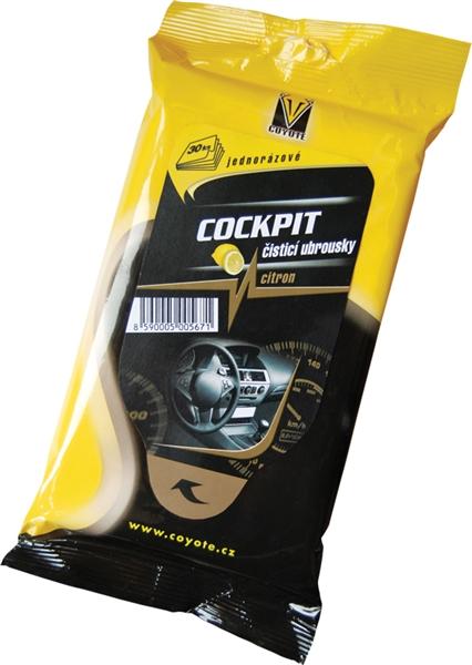 Coyote Cockpit citron čisticí ubrousky 30 ks