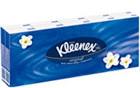 Fotografie Kleenex Original hygienické kapesníky 3vrstvé 10 kusů