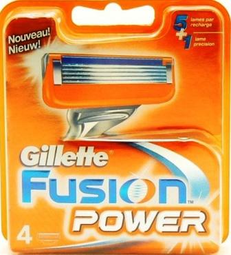 Gillette® Gillette Fusion Power náhradní hlavice 4 kusy