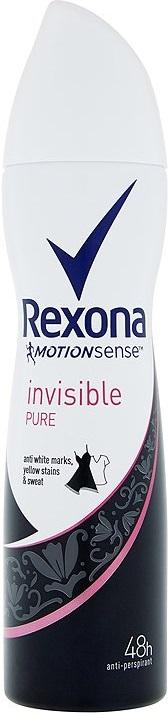 Rexona Motionsense Invisible Pure antiperspirant deodorant sprej pro ženy 150 ml