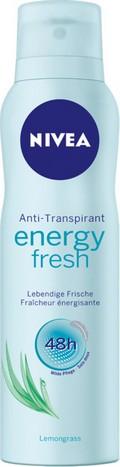 Fotografie Nivea Energy Fresh antiperspirant deodorant sprej pro ženy 150 ml