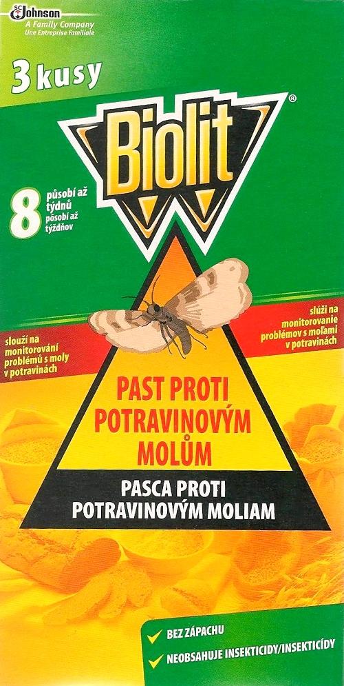 Fotografie Biolit Past proti potravinovým molům 3 kusy