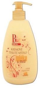 Bohemia Gifts & Cosmetics Med a Kozí mléko krémové tekuté mýdlo dávkovač 500 ml