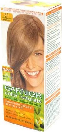 Fotografie Garnier Color Naturals barva na vlasy 8,1 světlá blond popelavá