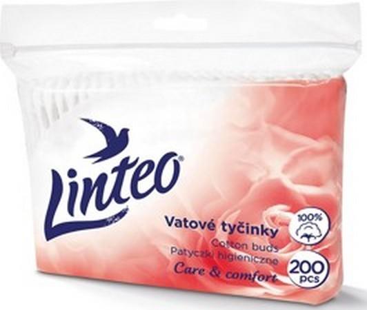 Fotografie Linteo Care & Comfort jemné vatové tyčinky sáček 200 kusů