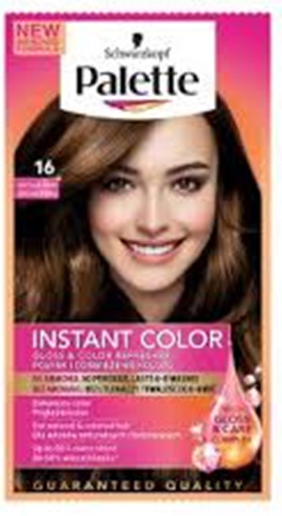 Fotografie Schwarzkopf Palette Instant Color postupně smývatelná barva na vlasy 16 čokoládově hnědý 25 ml