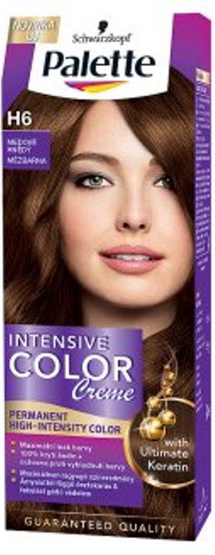 Fotografie Schwarzkopf Palette Intensive Color Creme barva na vlasy odstín H6 Medově hnědý