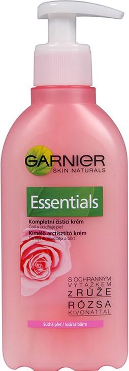 Fotografie Garnier Skin Naturals Essentials čistící krémový gel suchá a citlivá pleť 200 ml