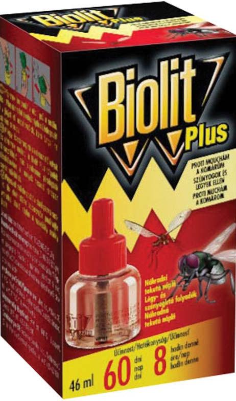 Fotografie Biolit Plus Odpařovač tekutá náplň proti mouchám a komárům 46 ml