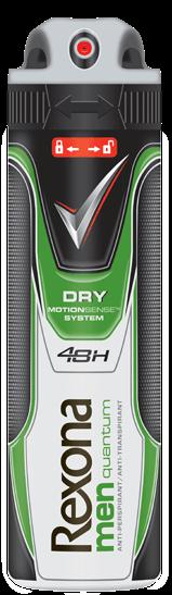Fotografie Rexona Antiperspirant ve spreji Men Motionsense Quantum Dry 150 ml