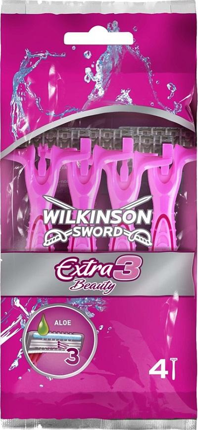 Wilkinson Lady Extra 3 Beauty holící strojek jednorázový 3 břity 4 kusy