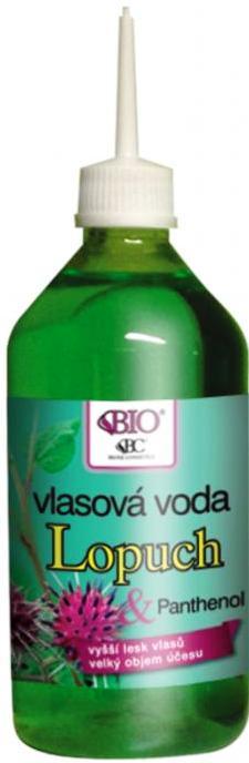 Fotografie Bione Cosmetics Lopuchový extrakt a olej vlasová voda pro vyživu a lesk 220 ml
