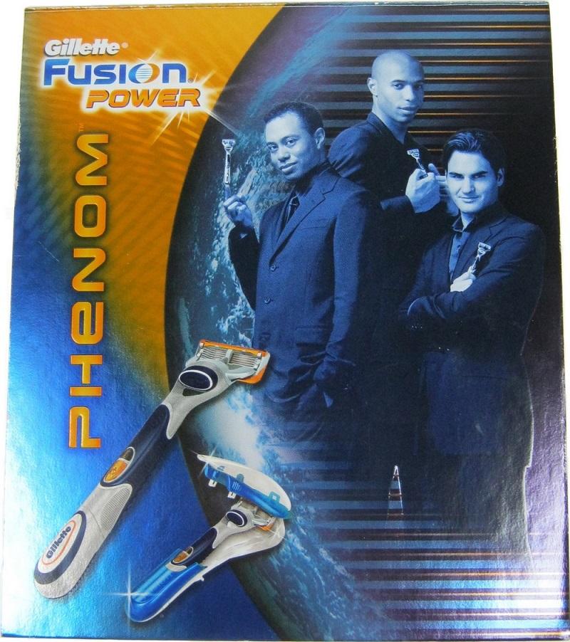 Gillette Fusion Power Phenom bateriový holící strojek 1 kus + pouzdro 1 kus, kosmetická sada