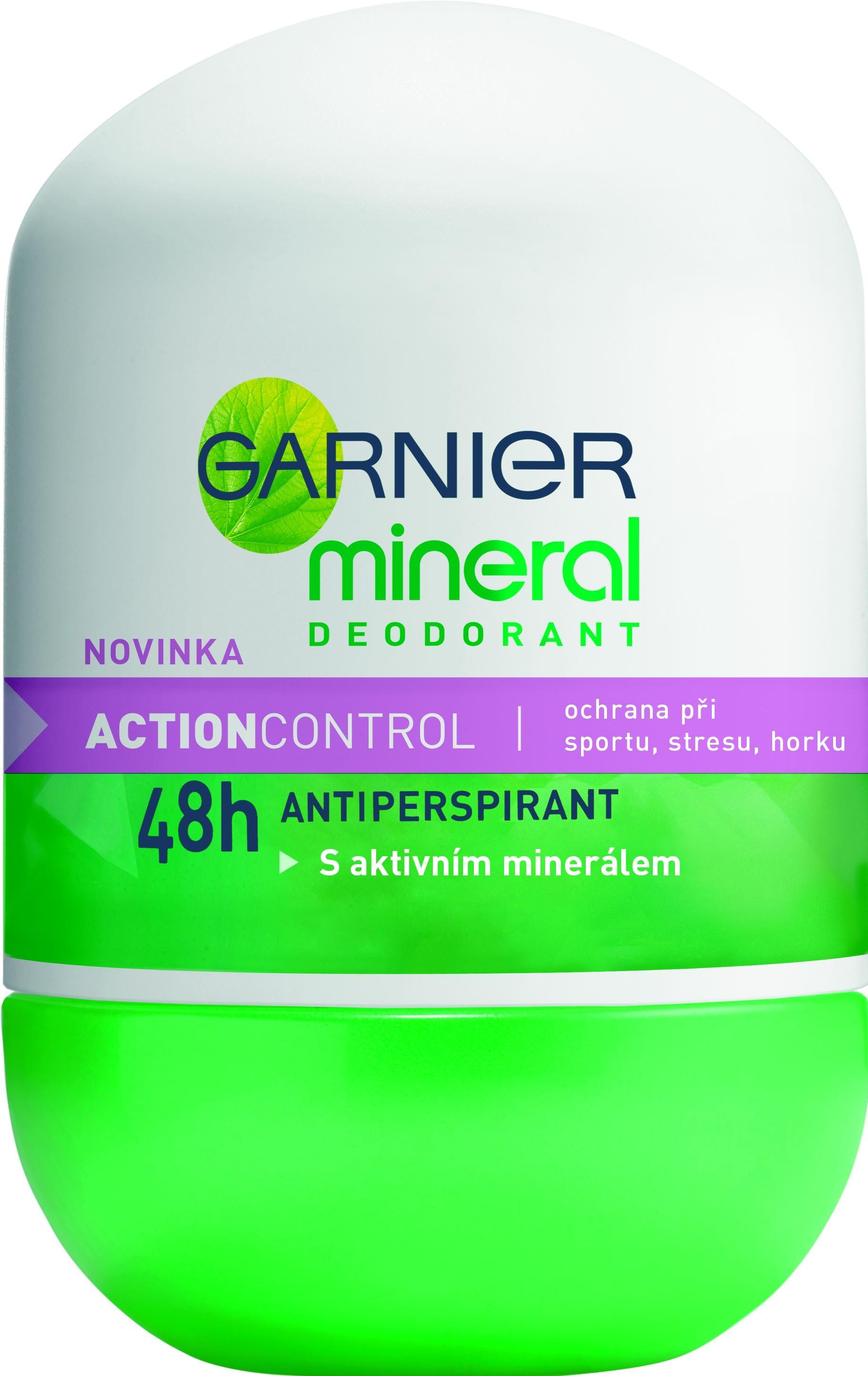 Fotografie Garnier Mineral Action Control kuličkový deodorant bez alkoholu roll-on pro ženy 50 ml