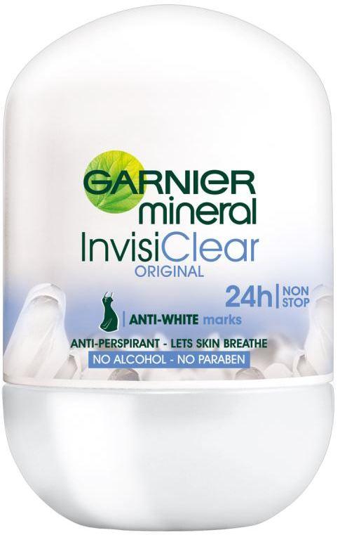 Garnier Mineral InvisiClear Original 48h kuličkový antiperspirant deodorant roll-on pro ženy 50 ml