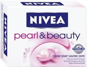 Fotografie Nivea Pearl & Beauty tuhé toaletní mýdlo 100 g