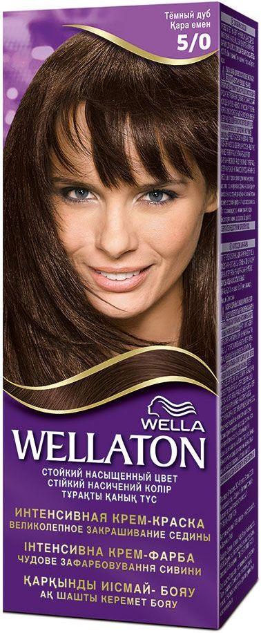 Fotografie Wella Wellaton Intense Color Cream krémová barva na vlasy 5/0 světle hnědá