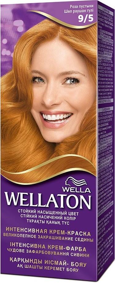 Fotografie Wella Wellaton Intense Color Cream krémová barva na vlasy 9/5 pouštní růže