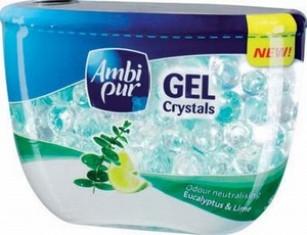 Fotografie Ambi Pur Crystals eucalyptus & lime gel osvěžovač vzduchu 150 g