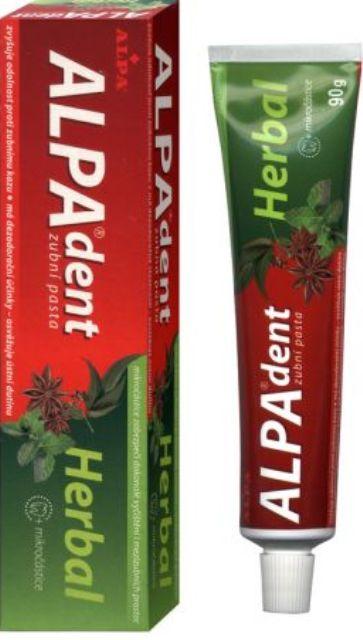 Fotografie Alpa Dent herbal zubní pasta s mikročásticemi 90 g