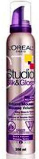 Fotografie LOREAL STL Silk&Gloss Volume pěna 200ml A4760900