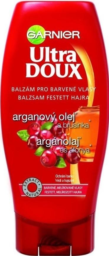 Fotografie Garnier Natural Arganový olej a brusinka balzám na barvené a melír vlasy 200 ml