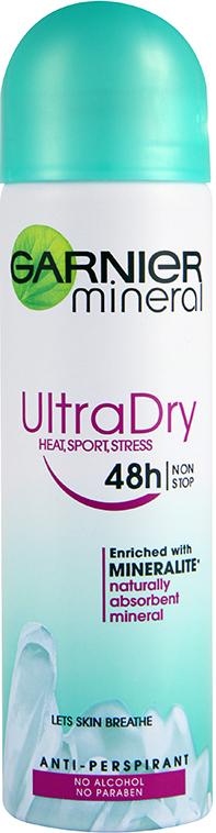 Garnier Mineral Ultra Dry Extracare Heat Sport Stress deodorant sprej pro ženy 150 ml