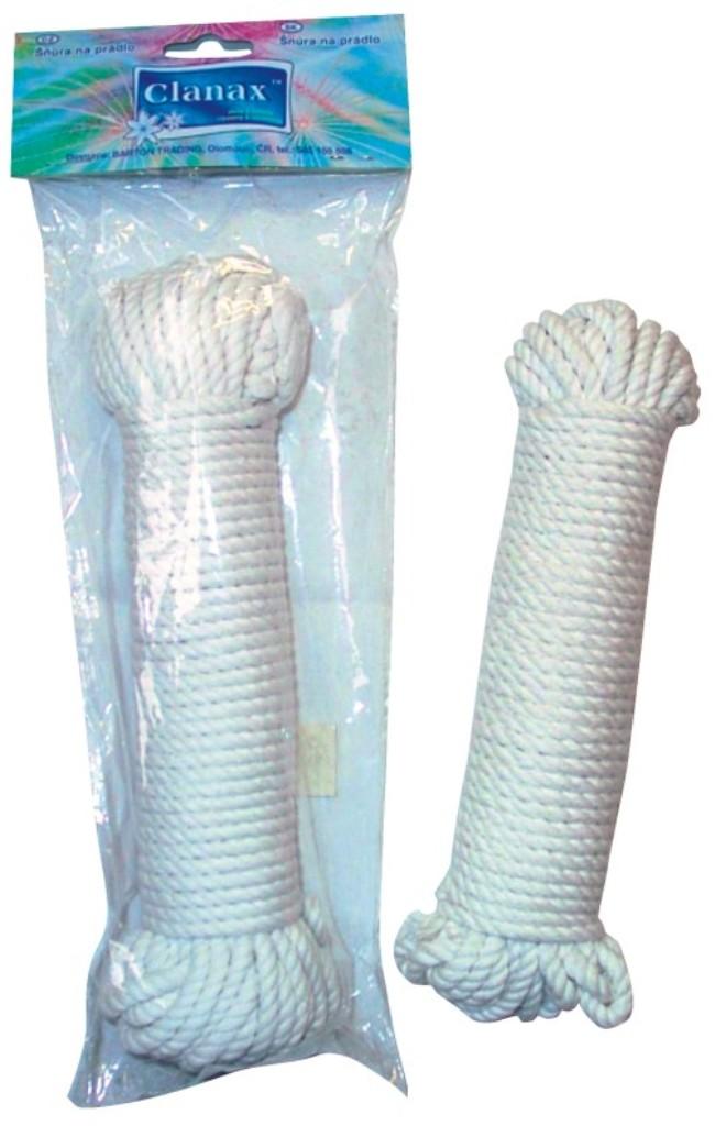 Clanax Šňůra na prádlo bavlna 15 m