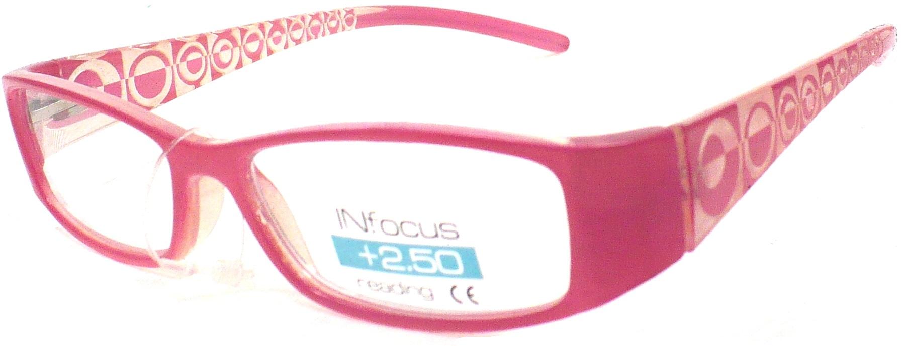 Berkeley Čtecí dioptrické brýle +2,50 růžové 1 kus R7603 PD62