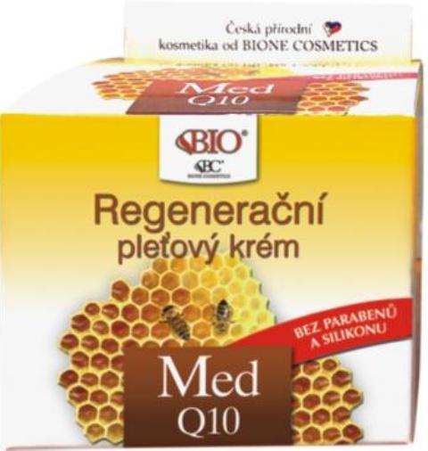 Fotografie Bione Cosmetics Med a Q10 regenerační pleťový krém denní 51 ml