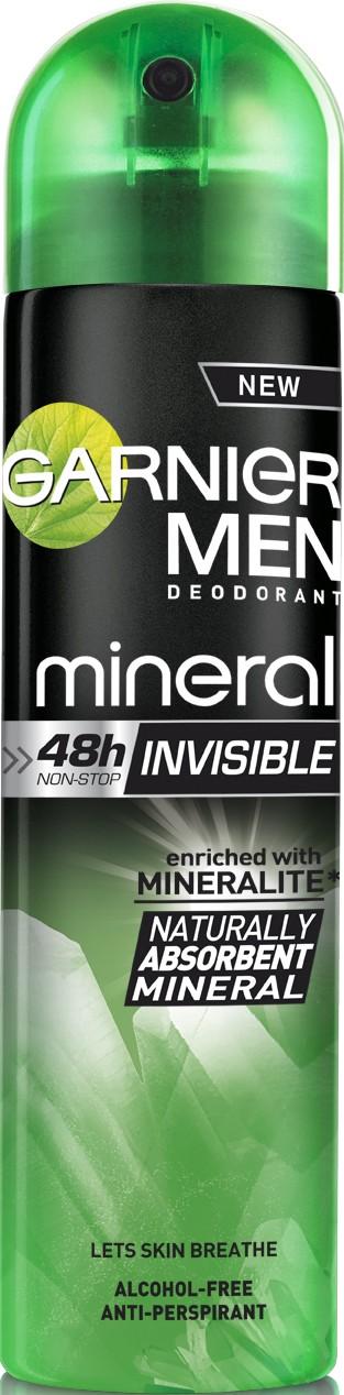 Fotografie Garnier Men Mineral Invisible deodorant sprej pro muže 150 ml