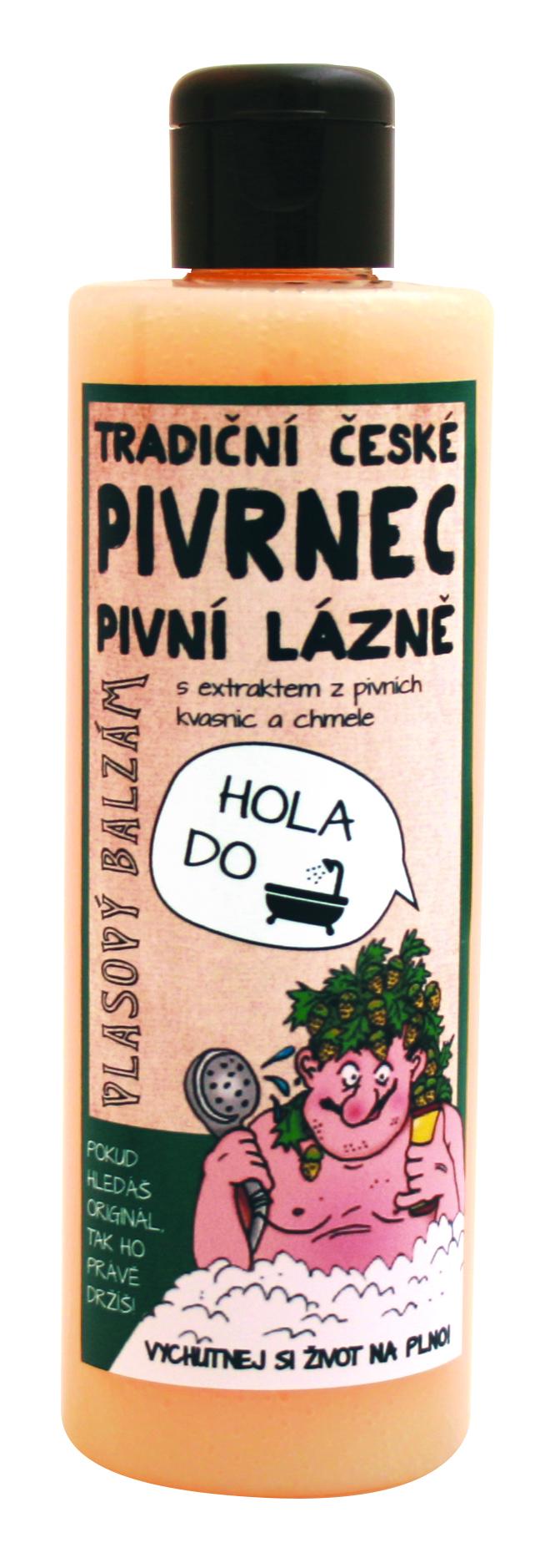 Fotografie Bohemia Gifts & Cosmetics Pivrnec s extrakty z pivních kvasnic a chmele Balzám na vlasy 250 ml