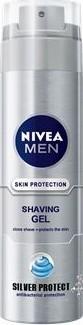 Fotografie Nivea - Men Silver Protect Shaving Gel 200ml Gel na holení M Antibakteriální gel na holení