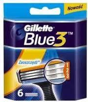 Fotografie Gillette Blue 3 náhradní hlavice 3 břity 6 ks
