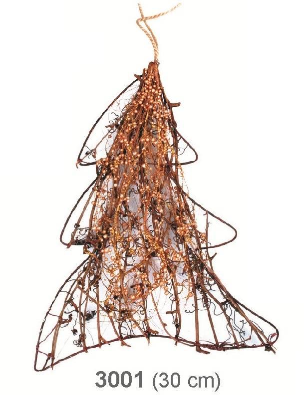 Proutěný stromek s perličkami 30 cm