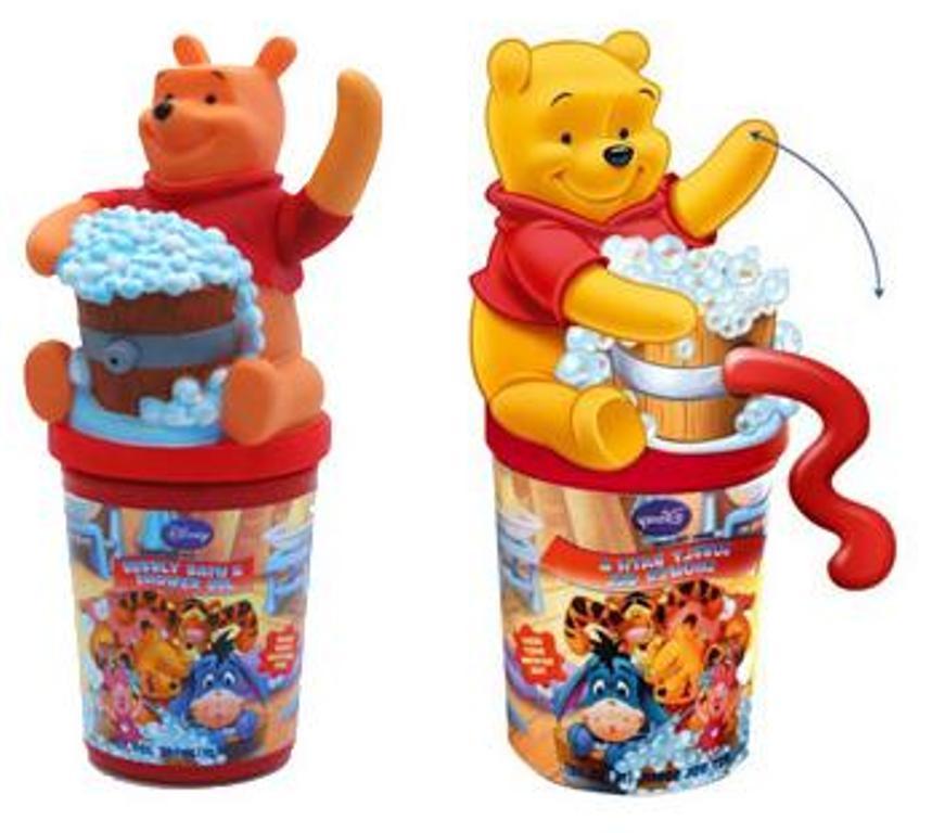 Disney Medvídek Pú 3D sprchový gel s dávkovacím mechanismem pro děti 300 ml