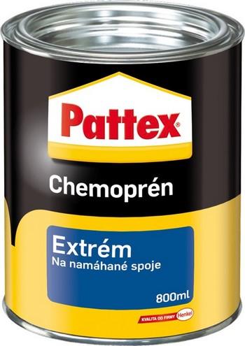 Fotografie Pattex Chemoprén Extrém lepidlo na namáhané spoje savé i nesavé materiály 800 ml