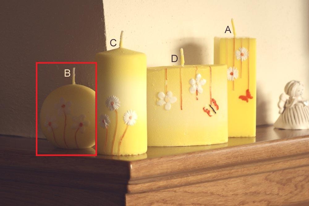 Lima Rozkvetlá louka svíčka žlutá koule 80 mm