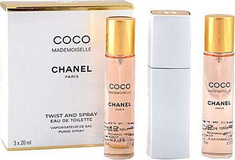 Chanel Coco Mademoiselle toaletní voda komplet pro ženy 3 x 20 ml