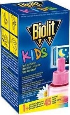 Fotografie Biolit Kids Elektrický odpařovač proti komárům náhradní náplň 35 ml