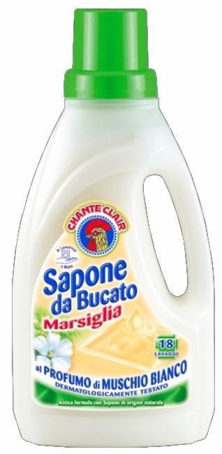 Chante Clair Chic Sapone da Bucato Muschio Bianco Marsiglia Bílý Mošus tekuté prací mýdlo 18 dávek 1 l