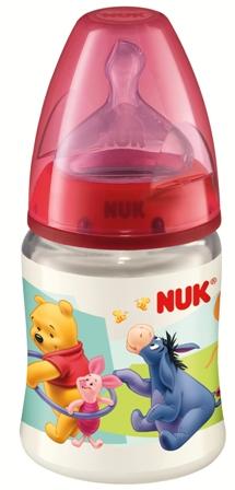 Fotografie Nuk Disney First Choic láhev plastová 0-6 měsíců velikost 1 = mléko 150 ml